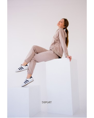 Женский спортивный костюм iDial style 437 бежевый