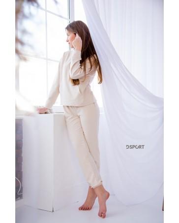 Женский спортивный костюм iDial style 427 молочный