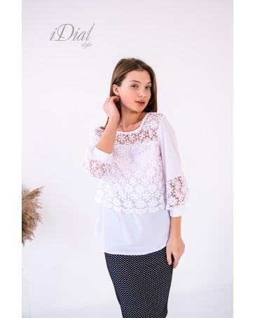 Женская блуза  02 iDial style белая