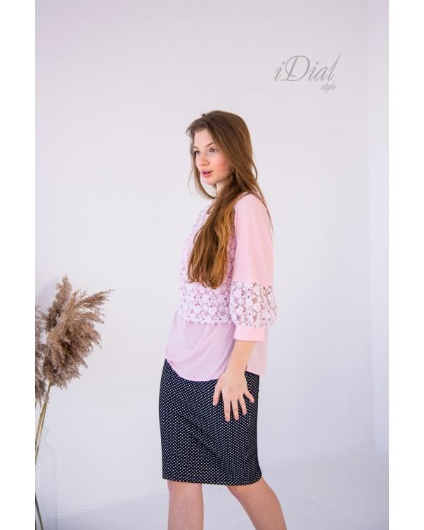 Женская блуза  iDial style 02 розовая