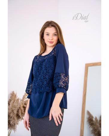 Женская блуза 02 iDial style синяя