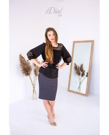 Женская блуза 02 iDial style черная