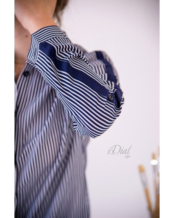 Женская блуза 195  iDial.style в полоску