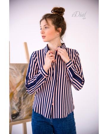 Блуза- рубашка женская iDial style 195  пудра