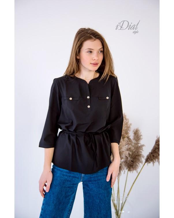 Женская блуза 16 iDial style черная