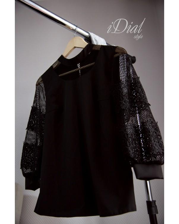 Женская блуза 436 iDial style черная