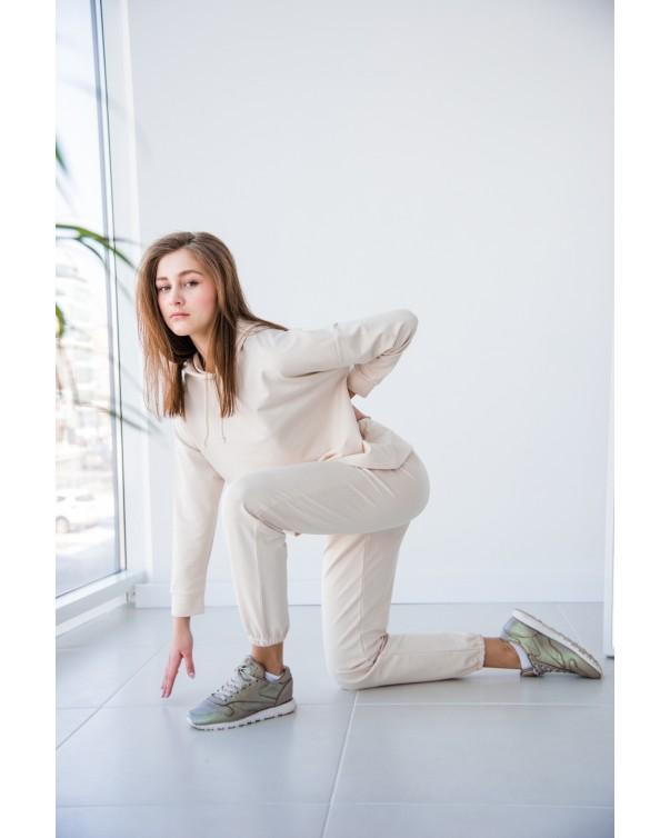 Женский спортивный костюм iDial style 439 молочный
