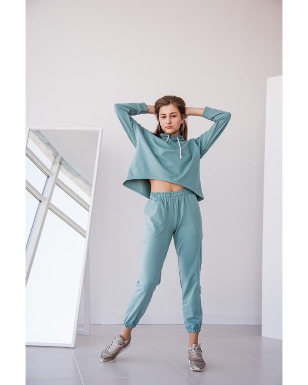 Женский спортивный костюм iDial style 439 бирюза