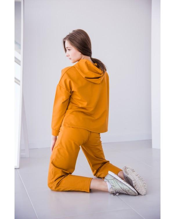 Женский спортивный костюм iDial style 438 горчичный