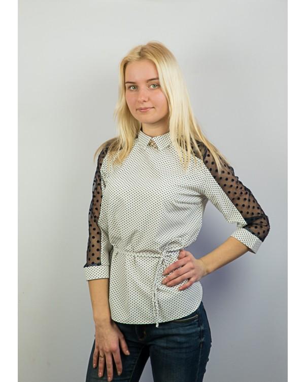 Блуза со вставками сетки 83.1