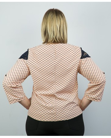 Женская блуза больших размеров iDial style Аза розовая
