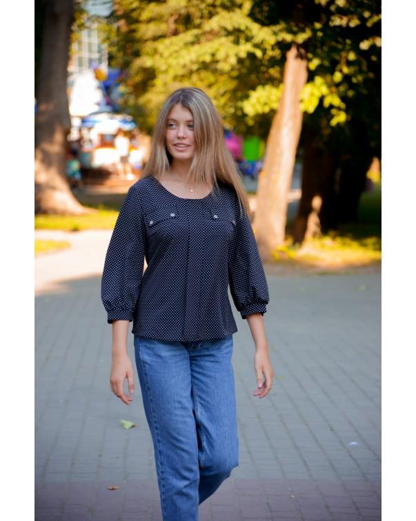 Женская блуза 799 iDial style в горох