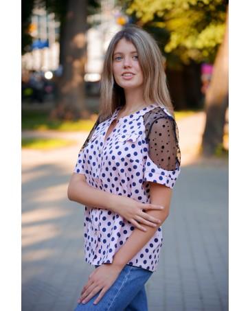 Женская блуза 080 iDial.style с кружевом