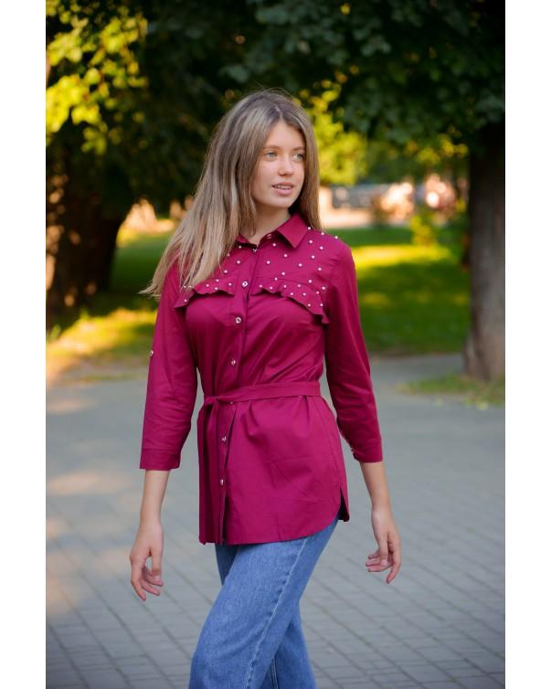 Женская блуза 123 iDial style бордо