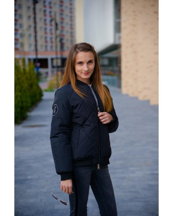 Женская куртка на синтепоне iDial style черная 01