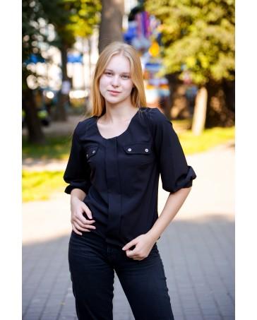 Женская блуза 799 iDial style черная
