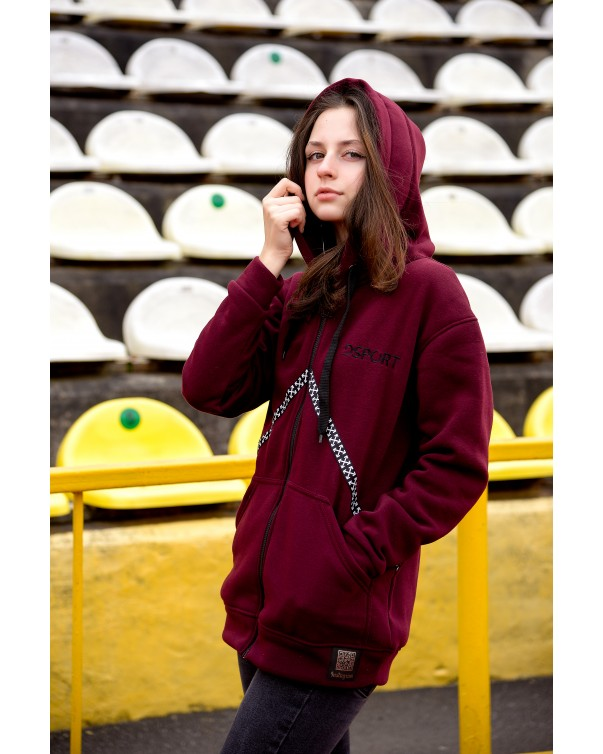 Женская кофта iDial style 434 бордо