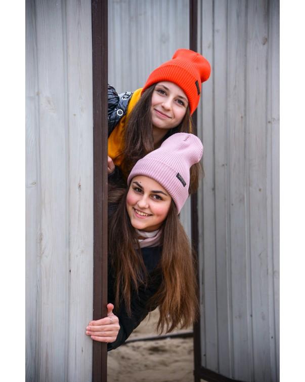 Женская шапка 1 iDial style лиловая