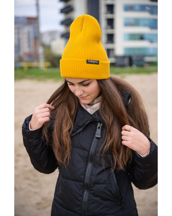 Шапка женская 1 iDial style желтая