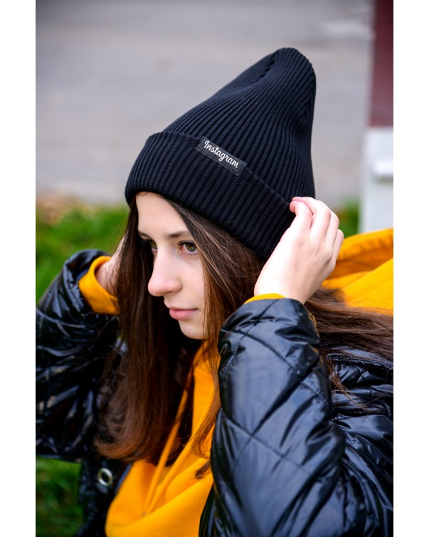 Женская шапка 1 iDial style черная