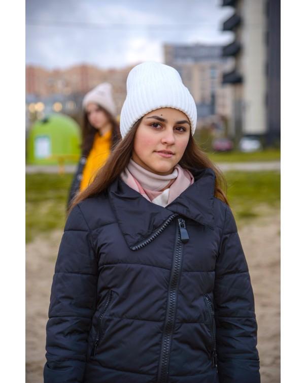 Женская шапка 1 iDial style белая