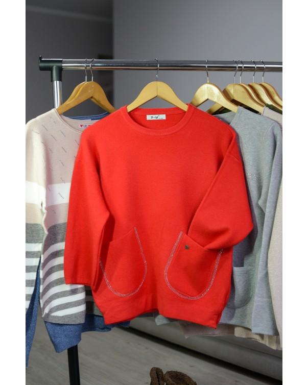 Женская кофта 2590 iDial style красная