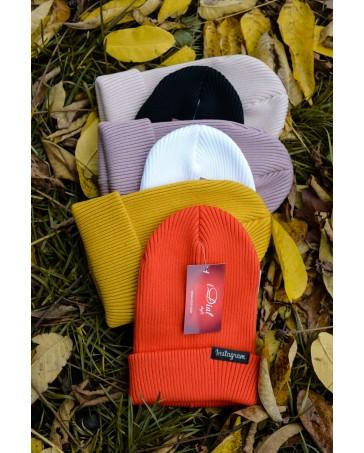 Женская шапка 1 iDial style оранжевая
