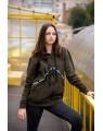 Женская кофта iDial style 431 темный хаки