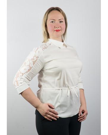 Блуза со вставками гипюра 83.1