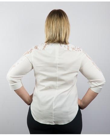Женская блуза белая iDial style с гипюром 83.1