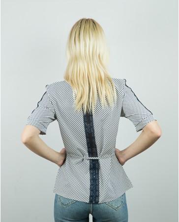 Женская блуза серая iDial style с гипюром