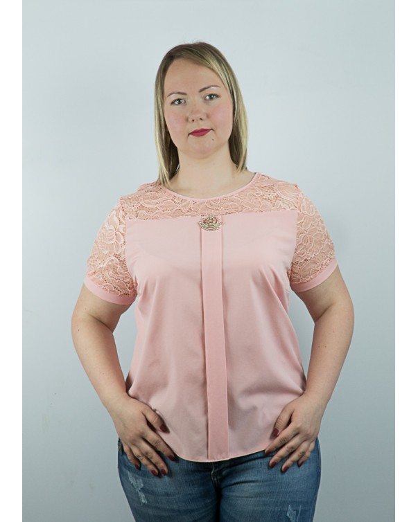 Женская блуза iDial style с розовым кружевом 94.2