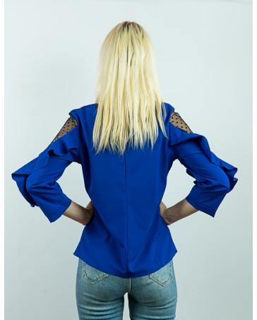 Блуза со вставками сетки 80