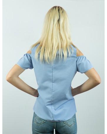 Женская блуза голубая iDial style Ники 85