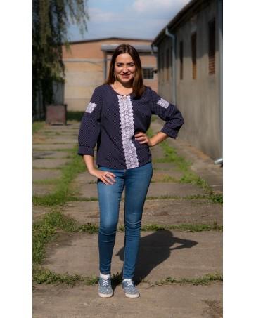 Женская блуза с поясом iDial style  Селена 89.1