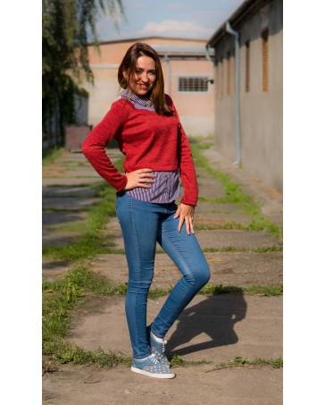 Женская кофта стрейчевая iDial style красная 018