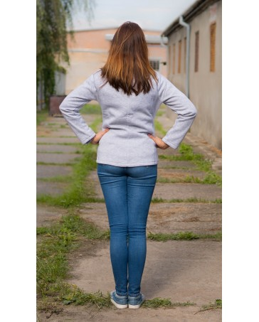 Батник теплый iDial style серый с декором 15.1