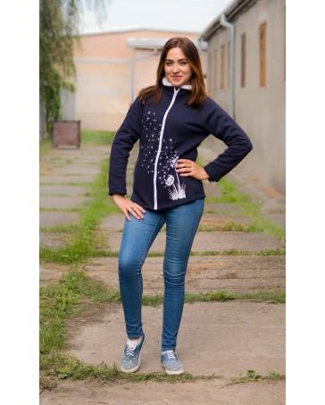 Батник теплый iDial style синий с декором 15.1