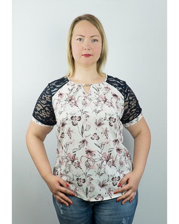 Женская блуза iDial style цветочный принт 98.2