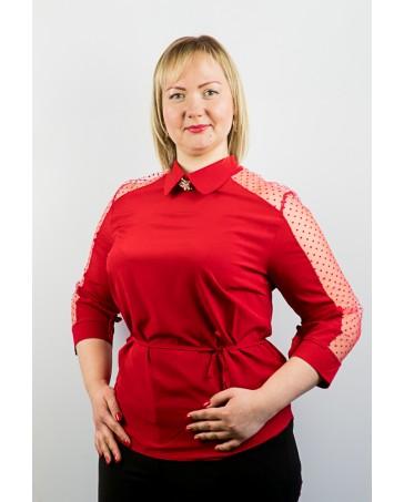 Блузка  со вставками сетки  83\1