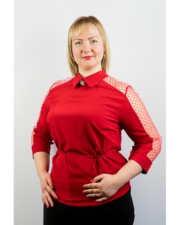 Блузка женская со вставками сетки  83\1
