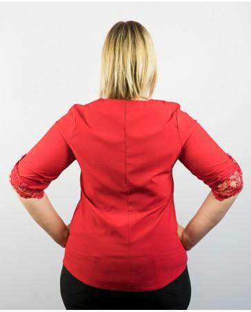 Женская блуза больших размеров iDial style красная