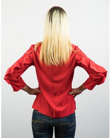 Женская блуза красная iDial style Ирма 80
