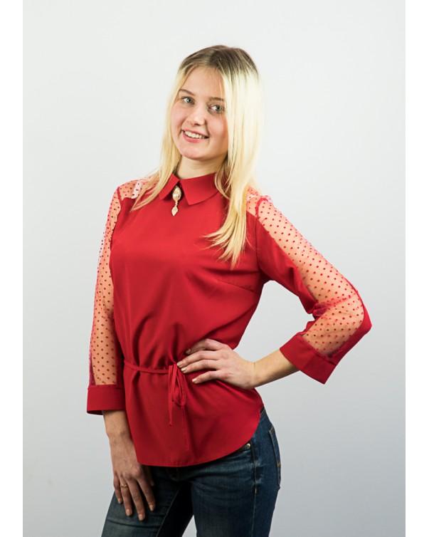 Женская блузка со вставками сетки 83\1
