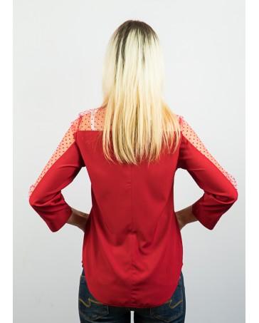 Блузка со вставками сетки 83.1
