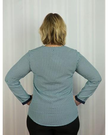 Женская блуза батал iDial style зеленая 16