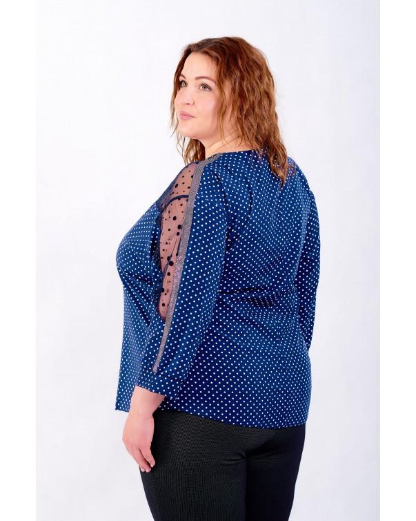 Женская блуза iDial style синяя 0524