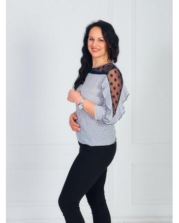 Женская блуза iDial style с рюшей 080