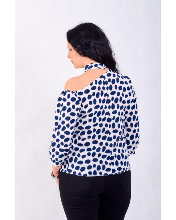Женская блуза iDial style в горошек 0821