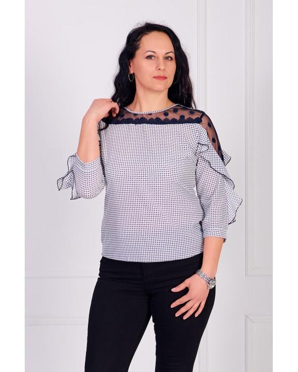 Женская блуза iDial style с рюшей 509/1